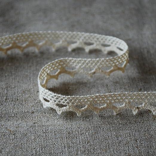 100% algodón Crochet ribete de encaje – estilo vintage de concha ...