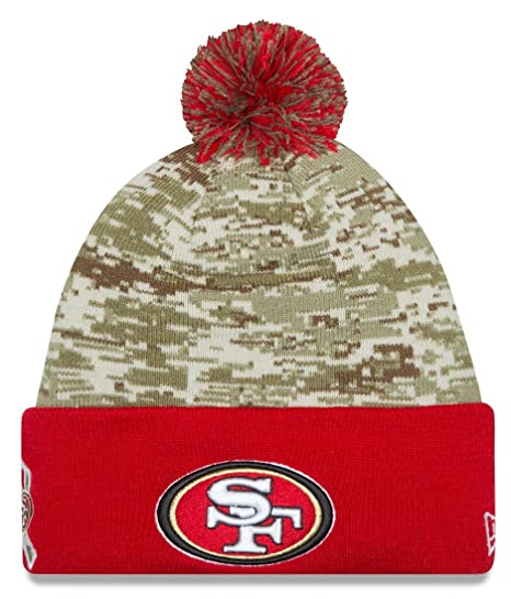 ebcab828e Image Unavailable. Image not available for. Color  New Era San Francisco  49ers 2015 NFL Sideline Salute to Service Sport Knit Hat