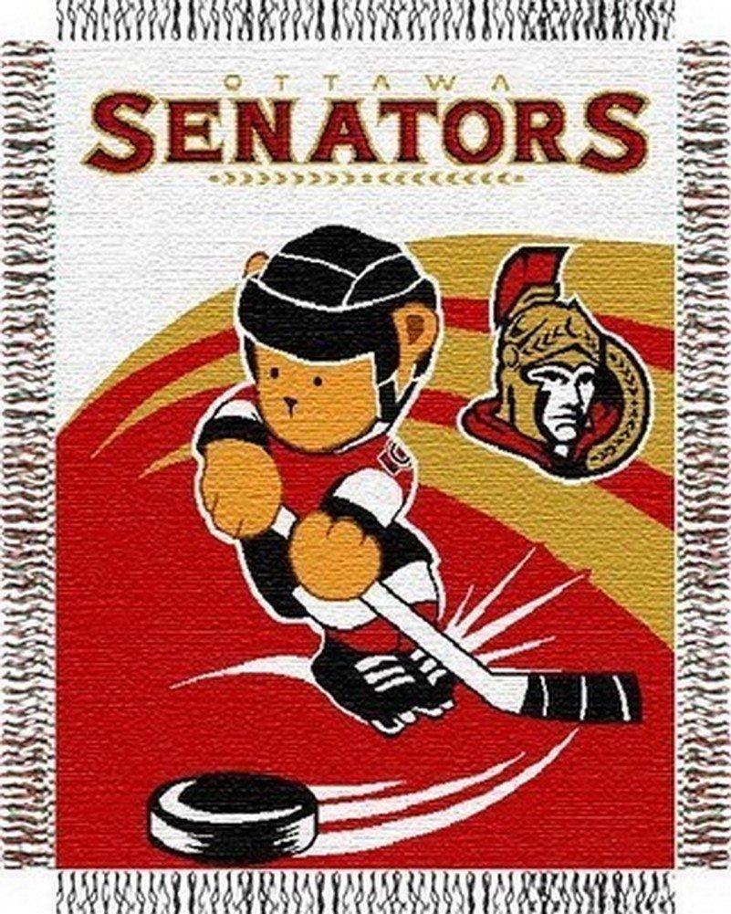 NHL New Jersey Devils元Woven Jacquard Baby Throw Ottawa Senators Ottawa Senators B000S63EM2