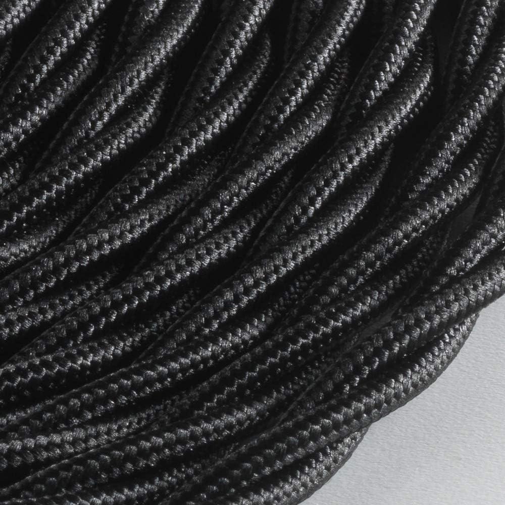 3 x 1,5 mm 10 m noir C/âble textile tress/é BELLE /ÉPOQUE pour installation /électrique vintage Klartext