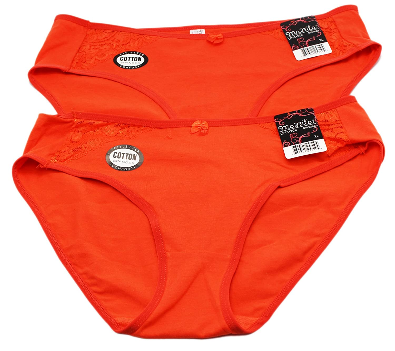 2 Pair Orange Bikini Style Underwear by Mamia (Extra Large)