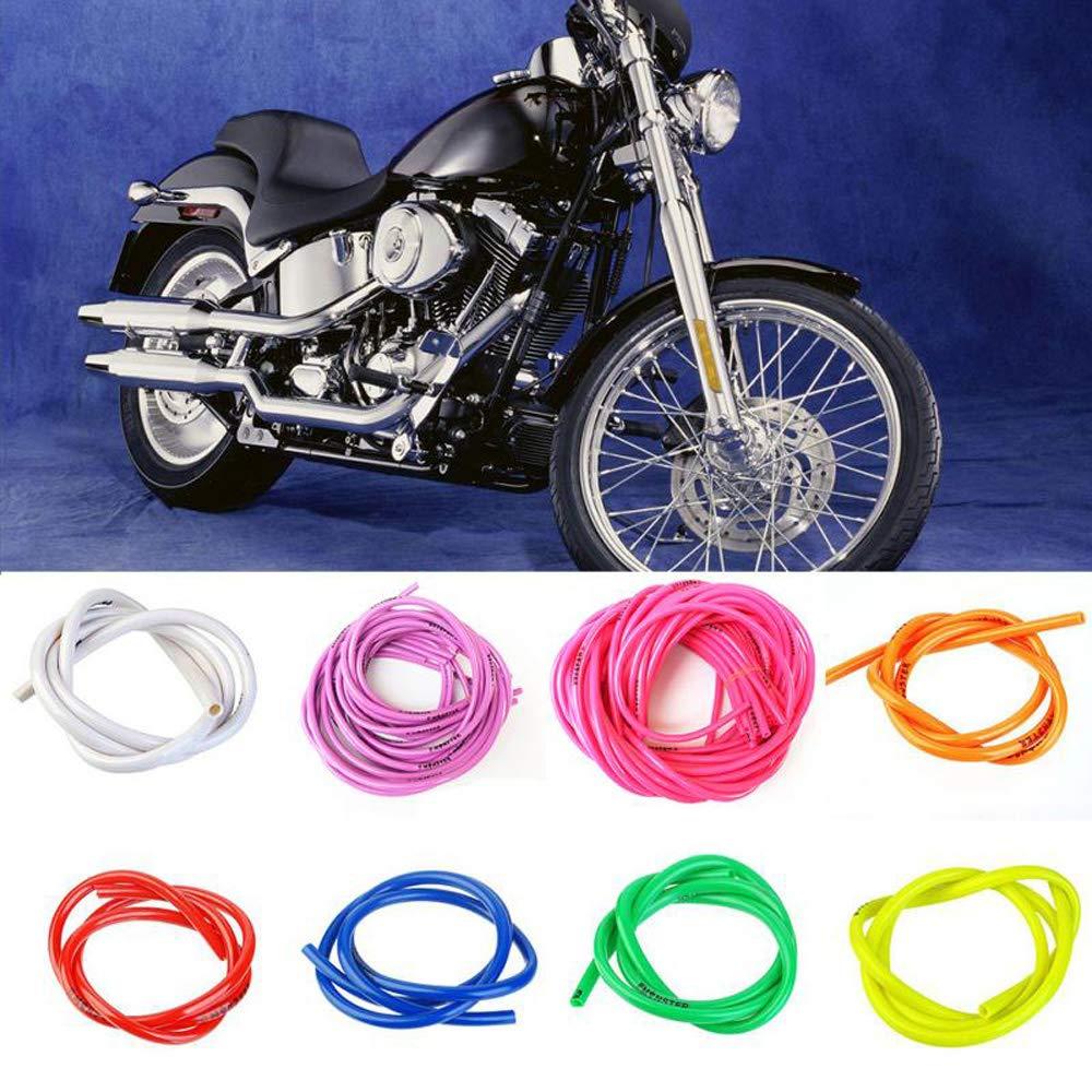 1 Myhonour Motorrad Benzinschlauch,Hochfester flexibler Kraftstoffschlauch 1M Motorrad Kraftstoff Gas /Ölschlauch Benzinschlauch 5mm I//D 8mm O//D Motorradzubeh/ör