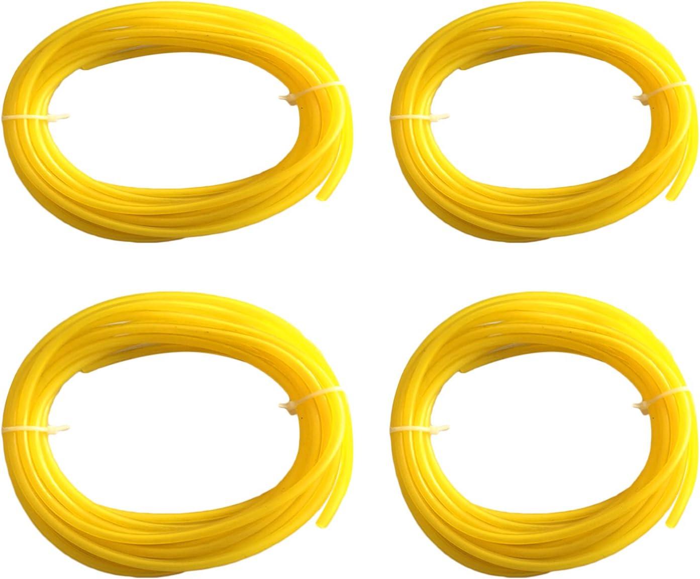 Gosear 4 PCS 4 Tama/ño 1m Long Petrol Fuel Line Tubo de Manguera para Craftman Chainsaw String Trimmer Blower