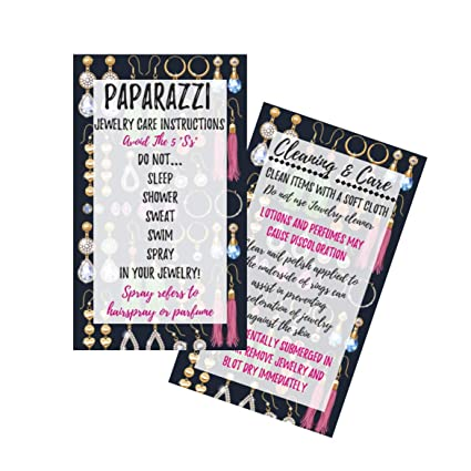 Amazon paparazzi jewelry cleaning and care instruction cards paparazzi jewelry cleaning and care instruction cards pack of 50 mlm marketing business cards colourmoves