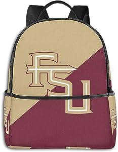 Florida State Seminoles Backpack Durable Waterproof Anti-Theft Laptop Backpack Travel Backpack School Bag, Suitable for Boys and Girls School Backpacks