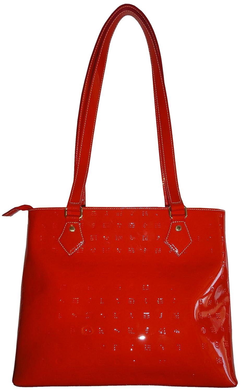 2bf89c8708a4 Amazon.com  Women s Arcadia Patent Leather Purse Handbag Tote New Orange   Clothing