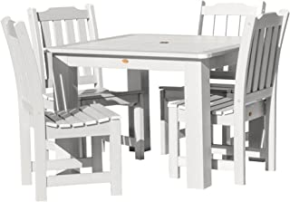 product image for Highwood AD-DNL44-WHE Lehigh 5-Piece Square Dining Set, 42-Inch, Height, White