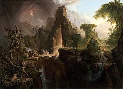 Fine Art Print//Poster Expulsion from the Garden of Eden Thomas Cole