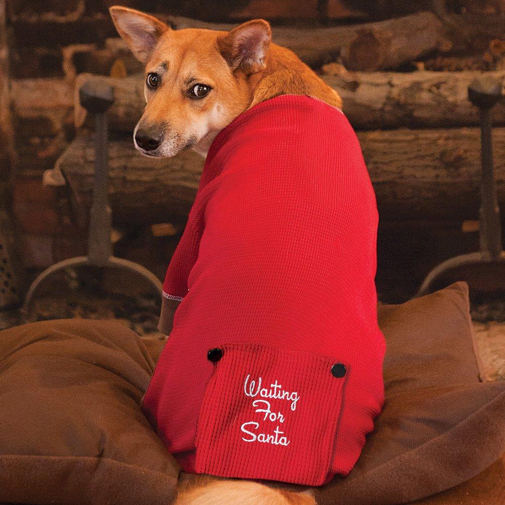 Amazon.com : Waiting For Santa Large Dog Pajamas Puppy Man's Best ...