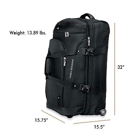 Amazon.com: Bolsa de lona con ruedas, de la marca High ...