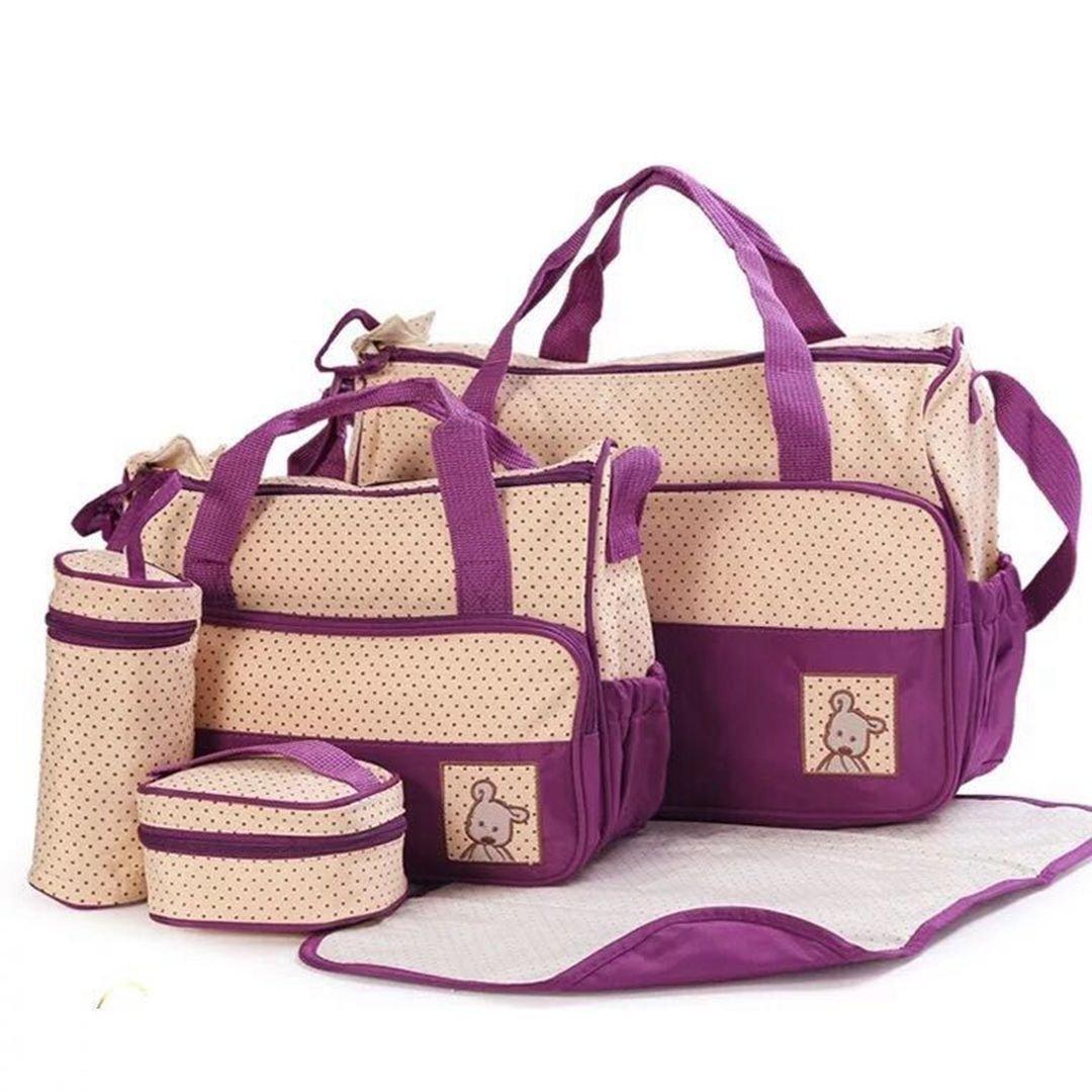 El pañal del bebé empaqueta el bolso cambiante del pañal fijado 5pcs MThomes