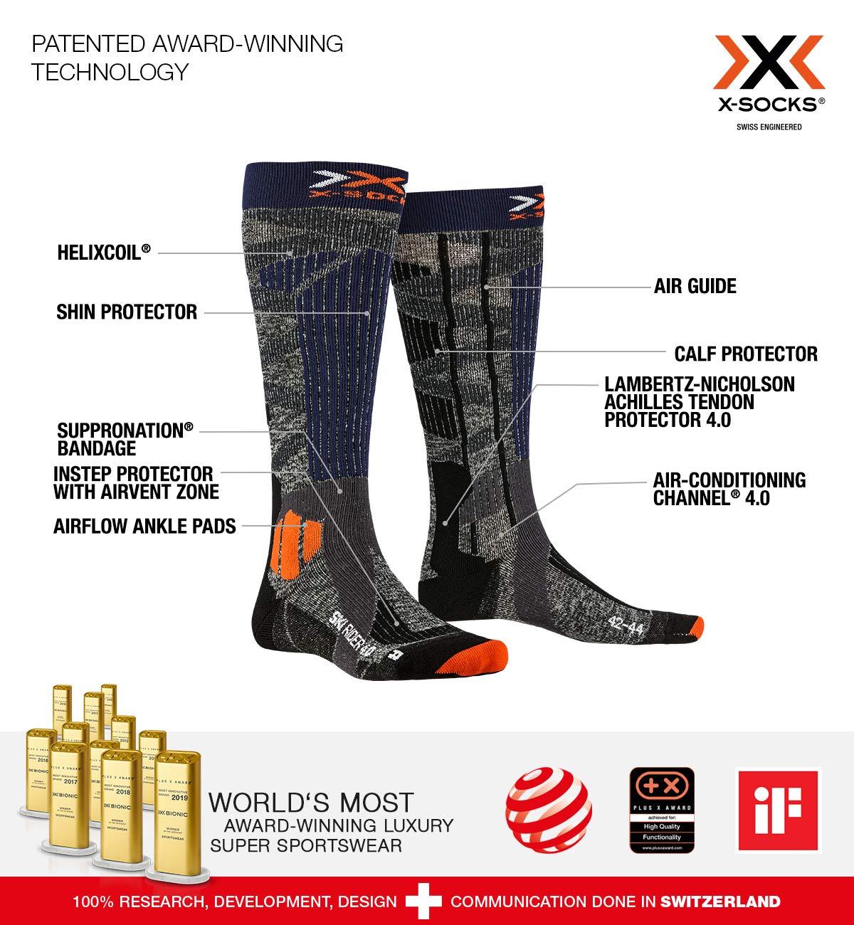 X-Socks Ski Rider 4.0 Calcetines De Invierno Calcetines De Esqu/í Hombre