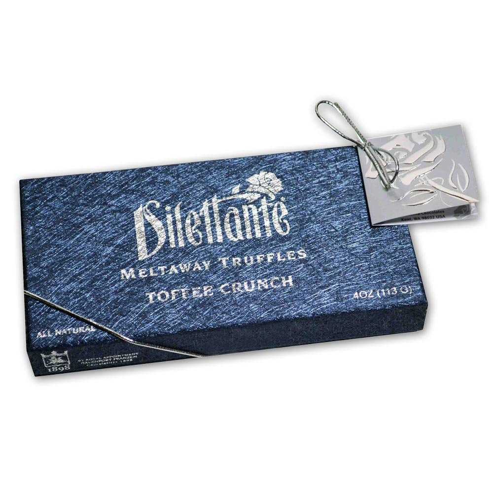 Toffee Crunch Meltaway Truffles - Chocolate Truffle Gift Box - by Dilettante (3 Pack)