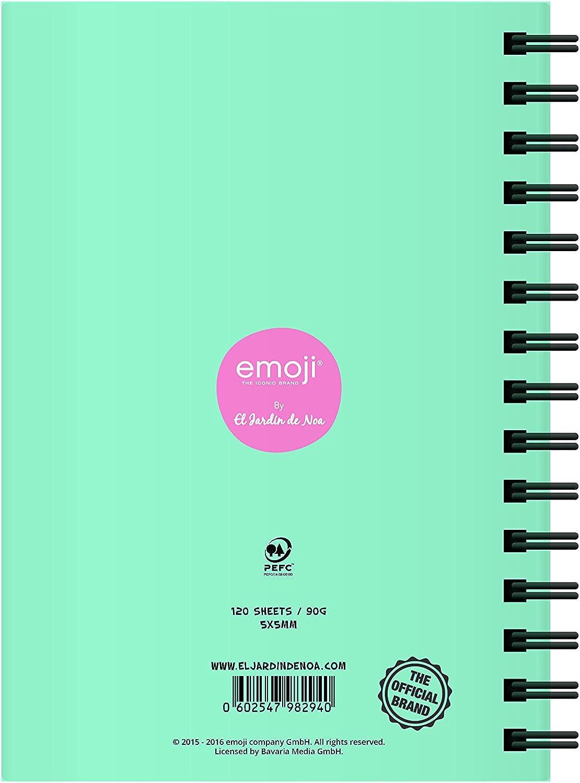 El Jardin de Noa EBN1004A - Cuaderno, A5: Emoji By Noa: Amazon.es: Oficina y papelería
