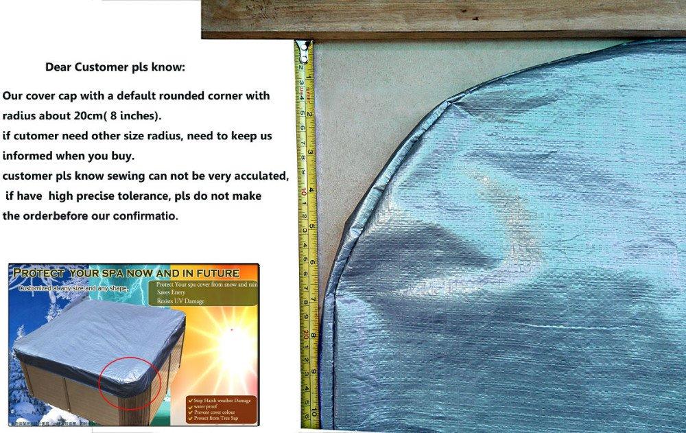 spa cover cap&hot tub sun shield 203x203x30cm;228x228cm;215x215cm;233x233x30cm (203x203x30cm)