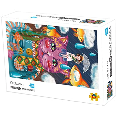 Puzzles for Adults 1000 Piece Little Girl and Her Cat Puzzles for Teenagers and Adults,Very Good Educational Puzzles for Kids Festival Gift Wall Decoration Mural Home Art 70x50cm: Toys & Games