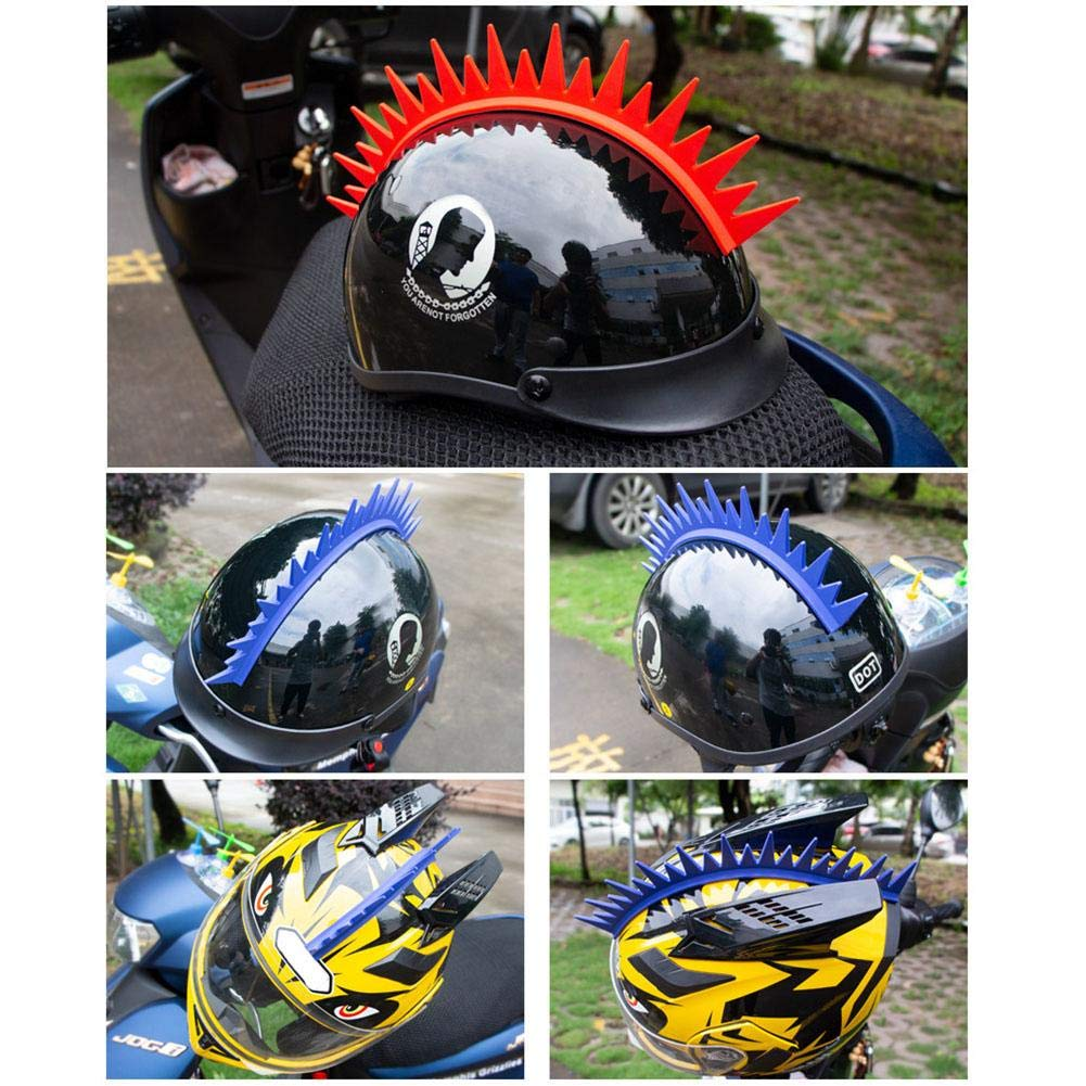PER Motorcycle Helmet Silicone Sawtooth Spikes Decorating Stickers Rubber Spike Mohawk Decoration for Helmet