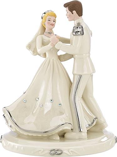 Lenox Classics Disney s Cinderella Prince Platinum Cake Topper