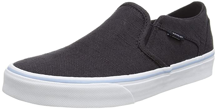 Vans Asher Damen Slip On Schuhe Navy Blau (Hemp)