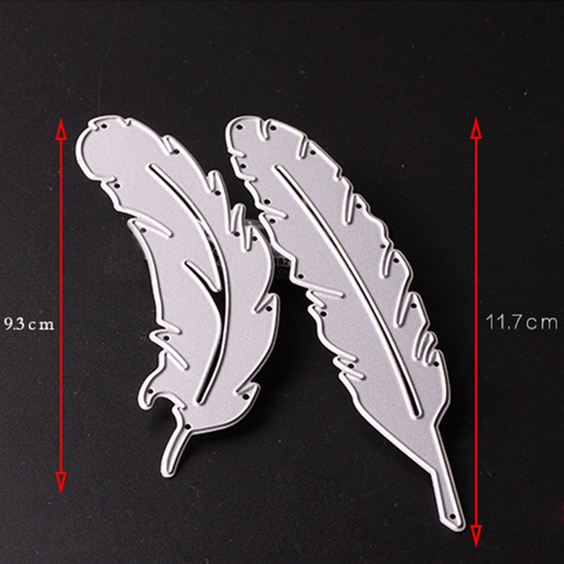 joyliveCY 2Pcs Feather Shaped Cutting Dies Stencil Compatible With DIY Scrapbooking Paper Card Craft