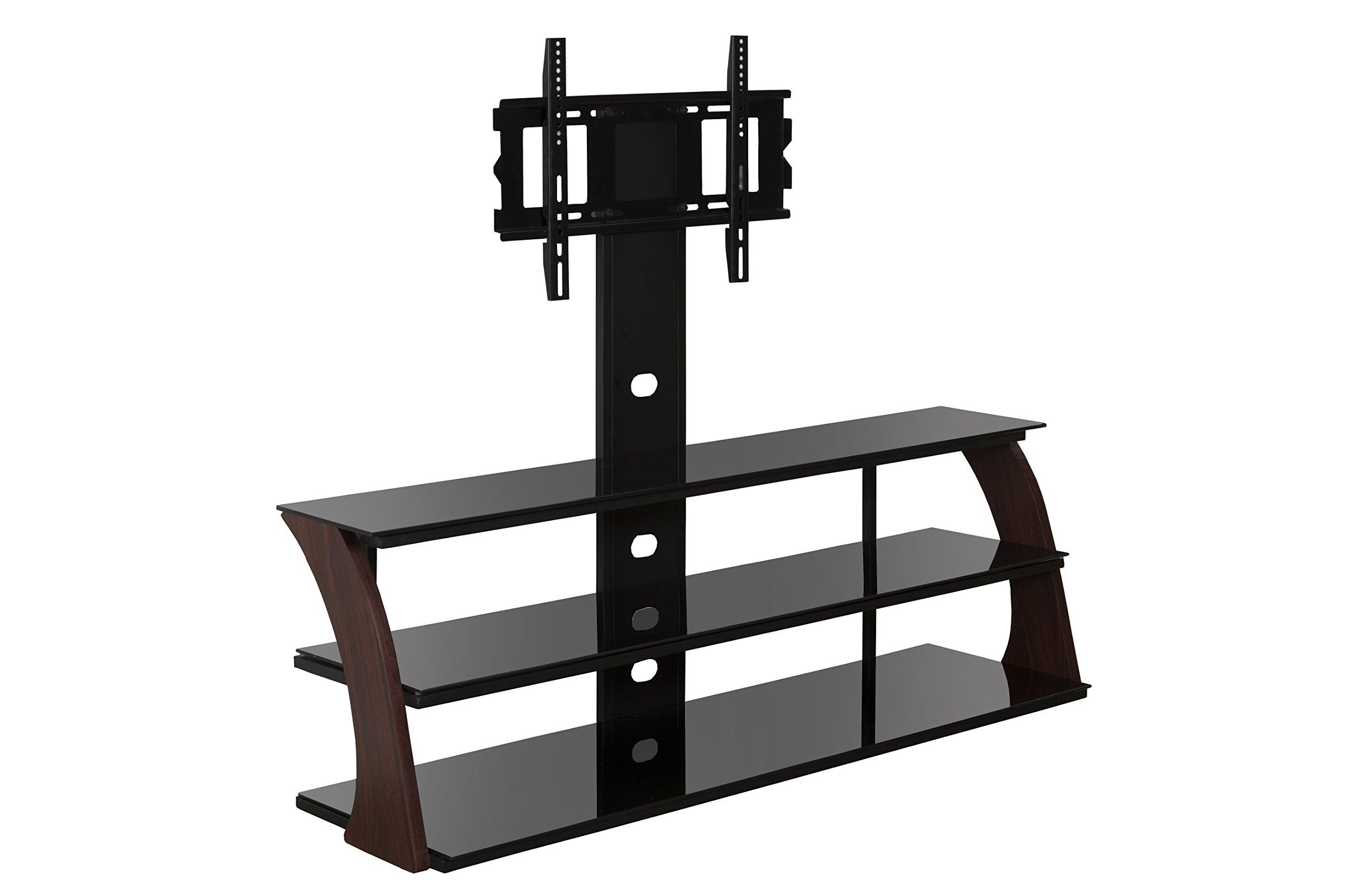 Sandberg Furniture Abigail TV Stand with Mount, Walnut/Black