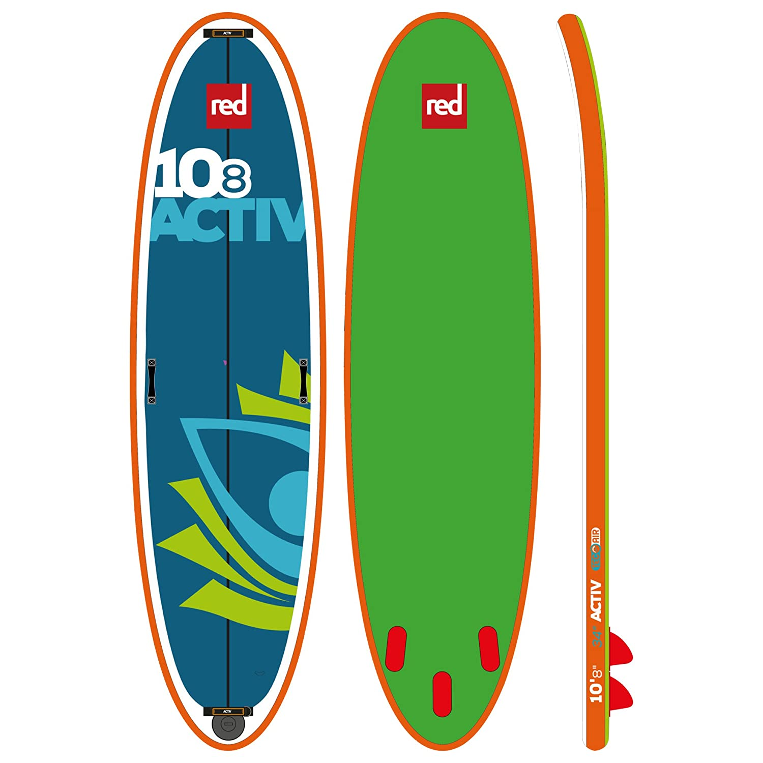 Red Paddle Co SRED6108A - Tablas Paddle Surf hinchables, Color Azul, 108