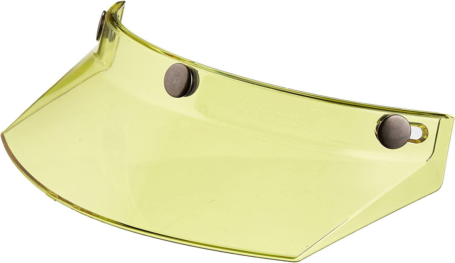 Biltwell MV-YEL-00-TN 3-Snap Moto Visor Yellow, One Size for Most 3-Snap Style Helmets