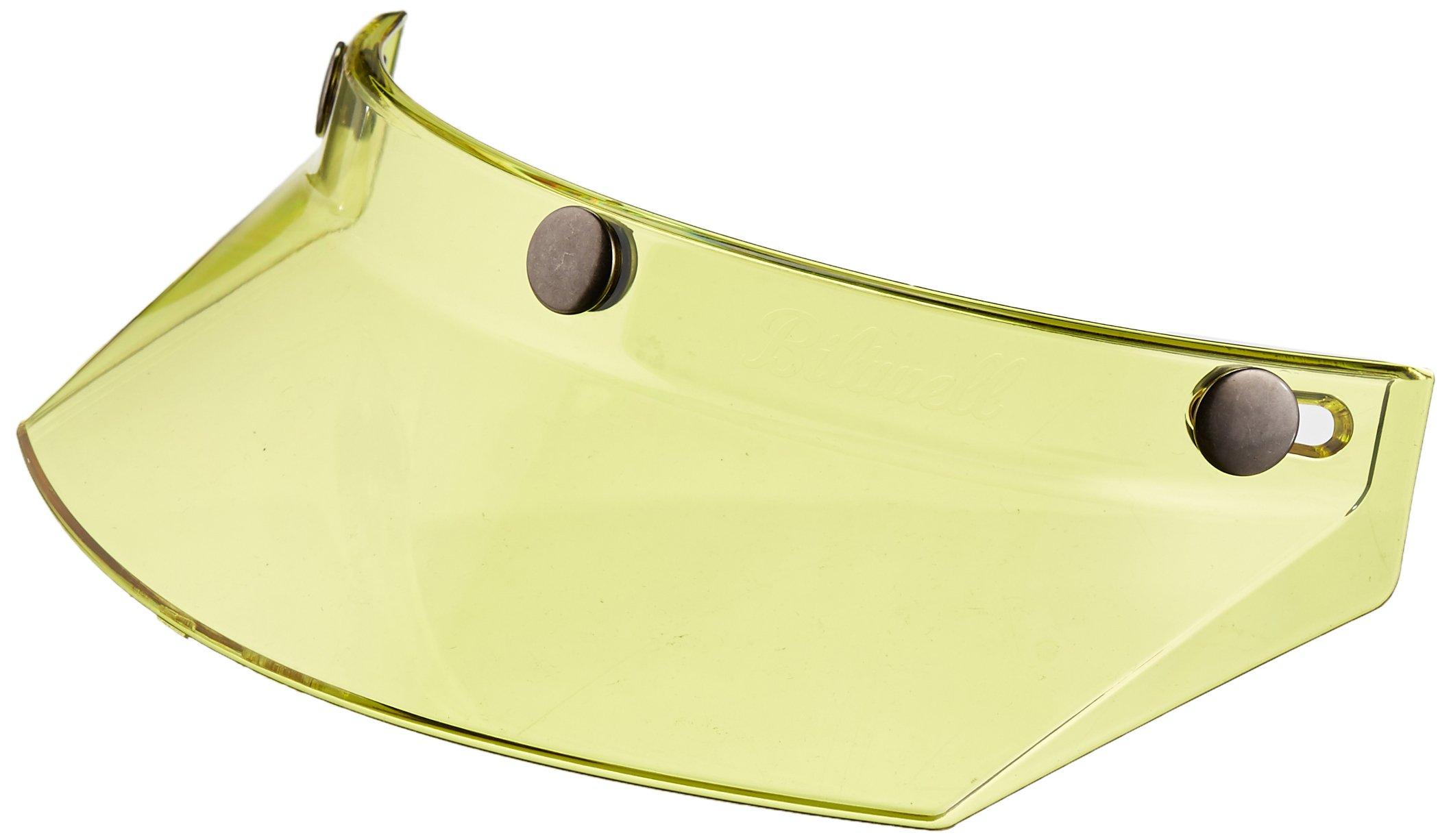 Biltwell MV-YEL-00-TN 3-Snap Moto Visor (Yellow, One Size) (for Most 3-Snap Style Helmets)