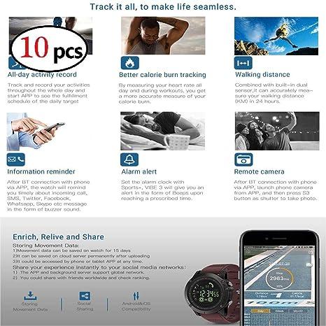 XuBa Smart Reloj Deportivo multifunción Impermeable Digital Deportes al Aire Libre Reloj Inteligente para Hombre (