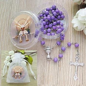 Rosario aromático para primera comunión – 12 rosarios con caja de ...