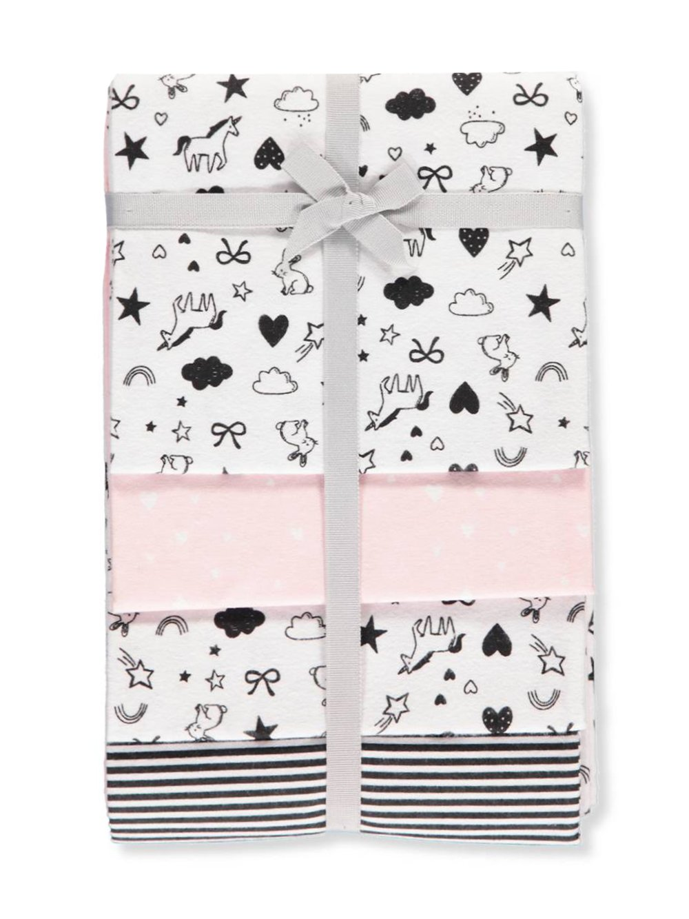 Carters 4-Pack Receiving Blanket Pink and Black Modern Designs Carter' s 99_7.43_20180621_B075HK7ZYG