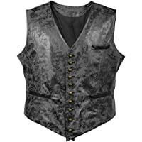 Sex icon Victorian Vagabond Steampunk Gothic Retro Wind Leather Cowboy Jacket Men's Vest