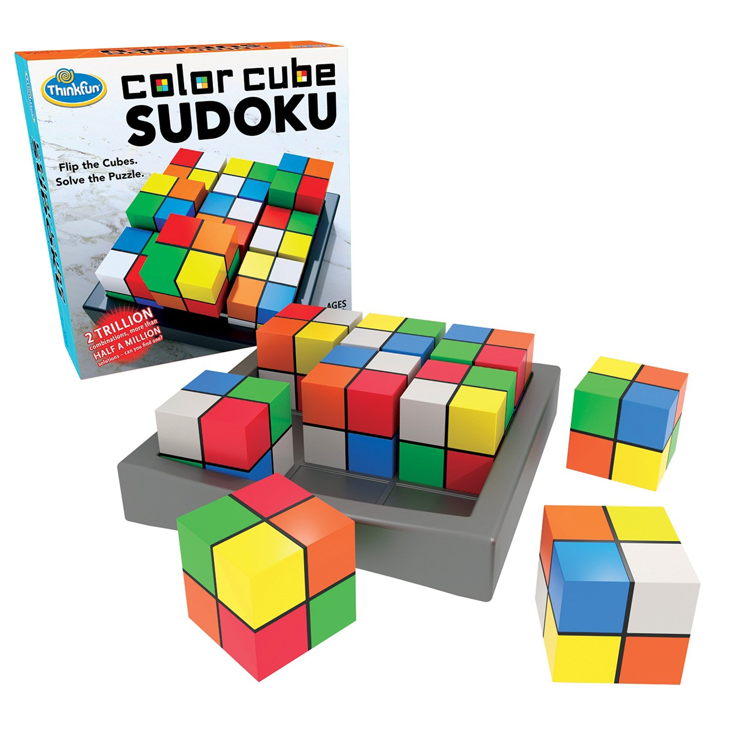 ThinkFun Color Cube Sudoku - Fun, Award Winning Version of Sudoku Using Colors Instead of Numbers For Age 8 and Up by Think Fun