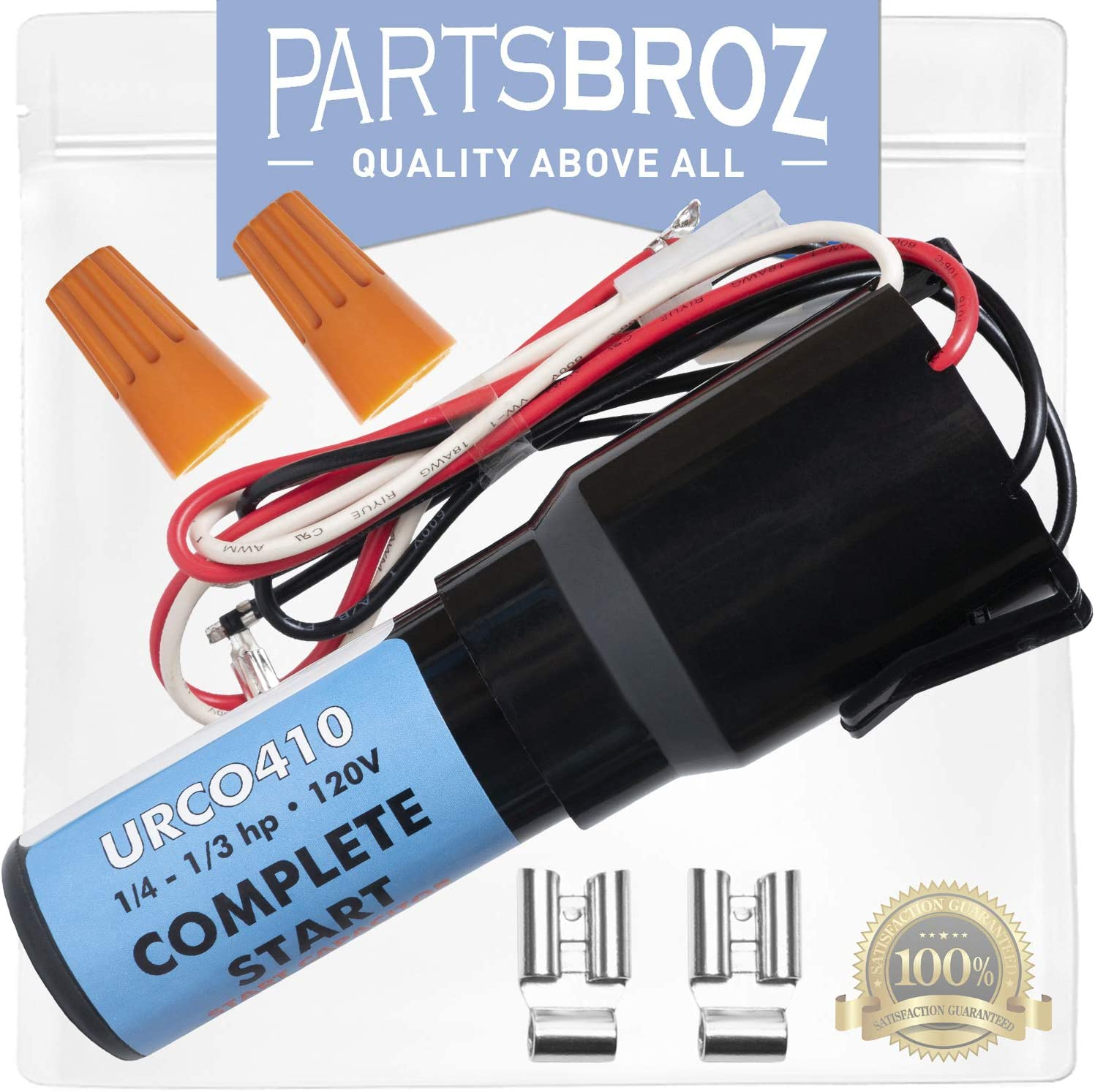 URCO410 3-in-1 Relay Combo Kit for Capillary Refrigeration Systems by PartsBroz - 1/4 to 1/3 HP - Replaces Part Numbers TJ90URCO410, AP4503415, ERPU410, URC041 & URCO41