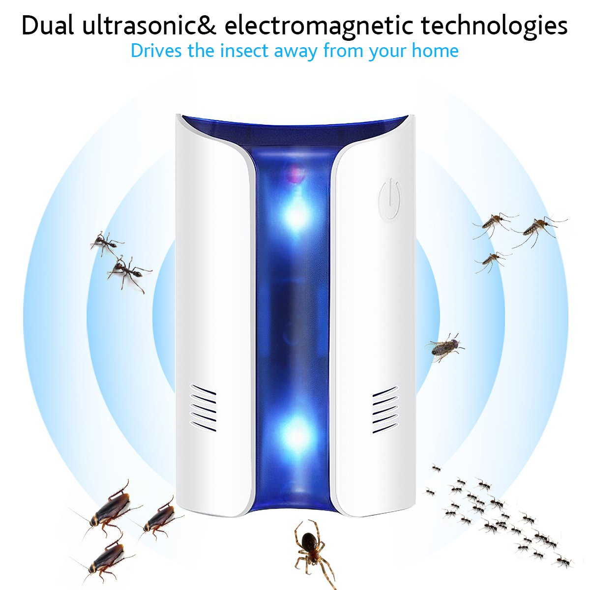 INKERSCOOP [2 Pack] Ultrasonic Pest Repellent, 2018 Version electromagnetic Pest Repellent - Plug in Home Indoor & Outdoor Repeller, Get Rid of Mosquito, Ant, Flea, Rats, Fruit Fly, Rodent, Insect
