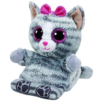 Ty Molly Grey Cat Phone Holder - Stuffed Animal (PH016): Toys & Games