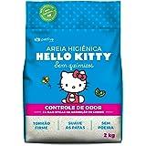 Areia Higiênica Hello Kitty Controle de Odor, Clássica, Natural 2 kg