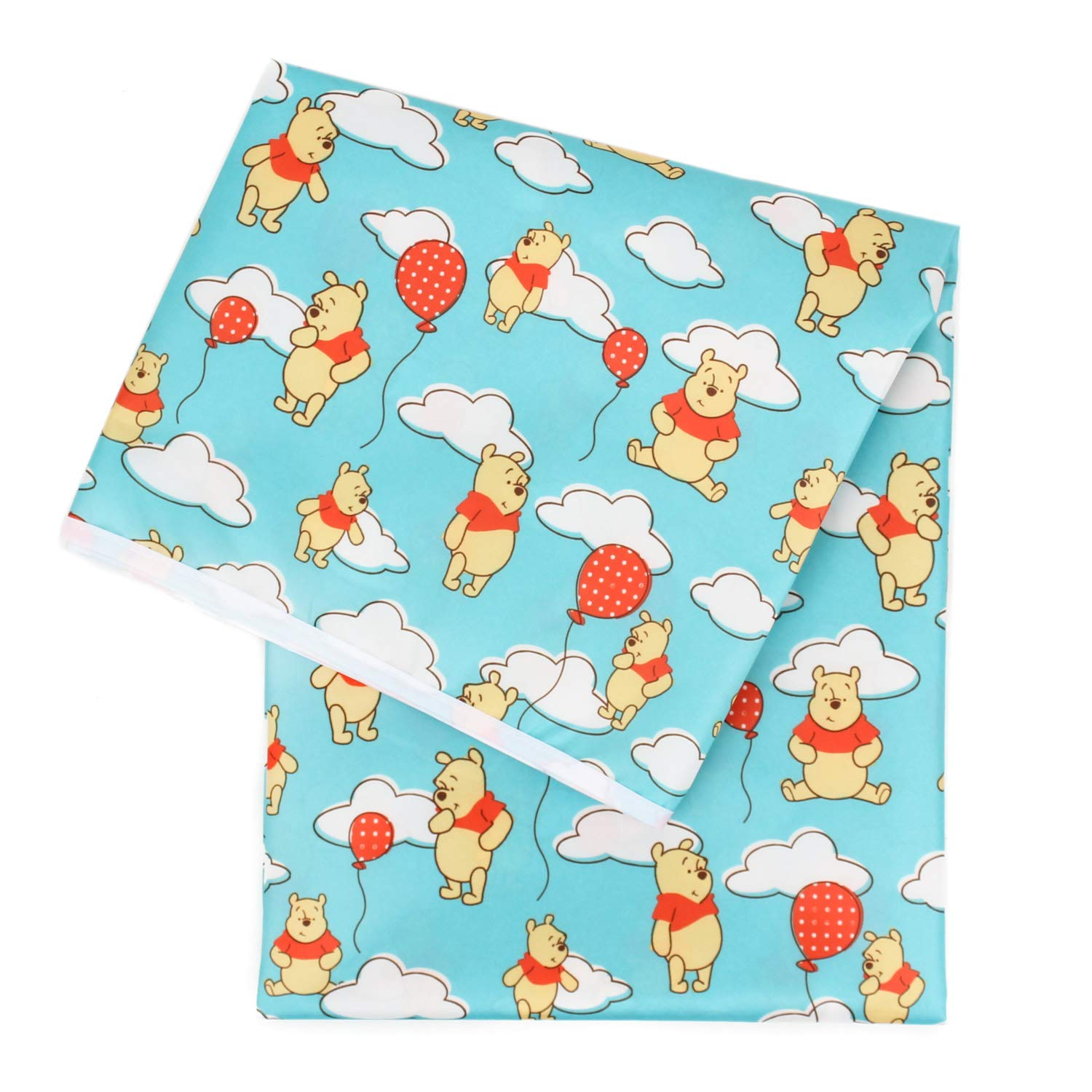 Bumkins Disney Winnie The Pooh Splat Mat, Waterproof, Washable for Floor or Table, Under Highchairs, Art, Crafts, Playtime - 42x42