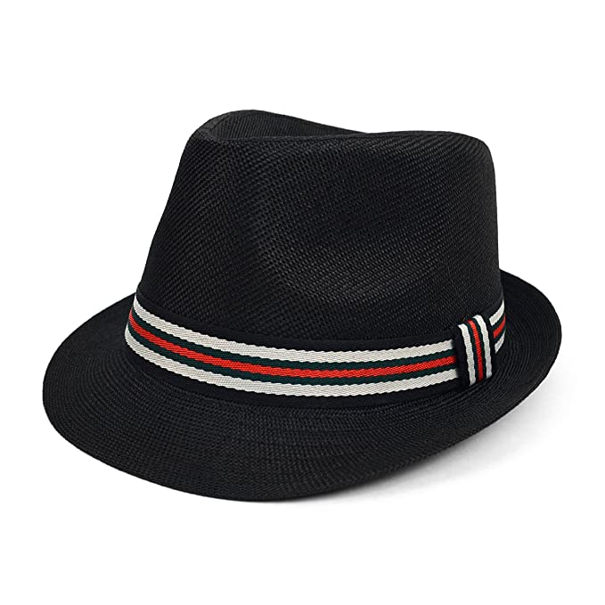 32b895b9ef4c6 West End Spring Summer Trilby Fedora Hat with Multi Color Band: Amazon.ca:  Clothing & Accessories
