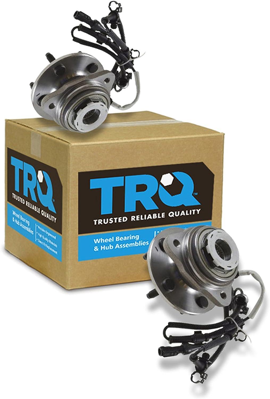 TRQ Front Wheel Hub & Bearing Pair Set of 2 for Ranger B-Series Pickup 4WD 4x4