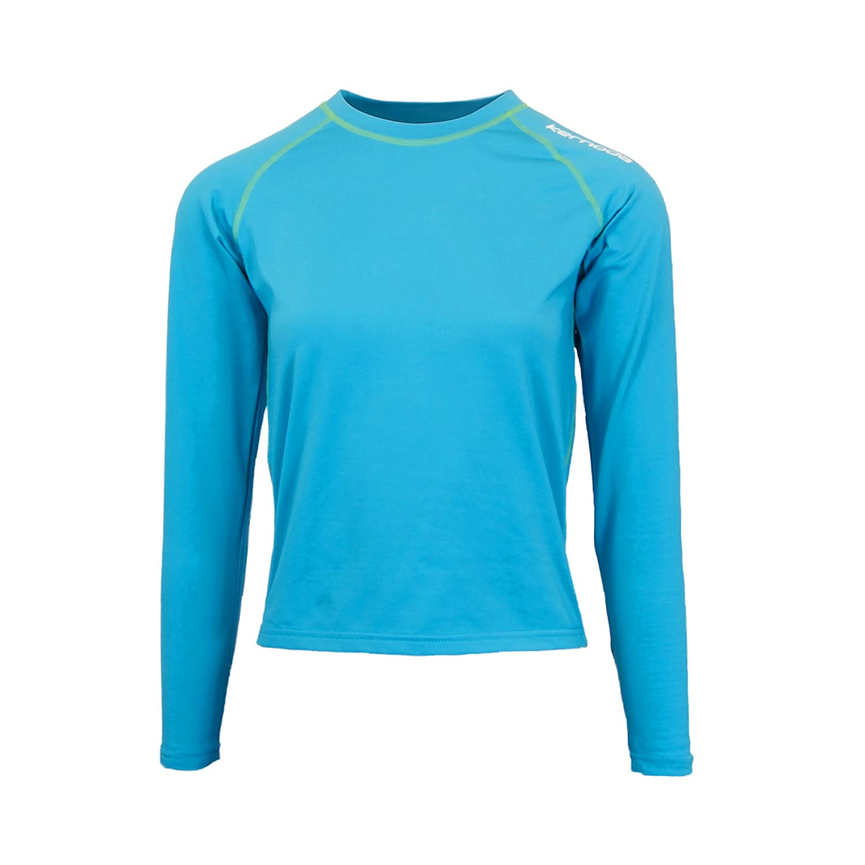 Womens Compression Base Layer Thermal / Baselayer Top Long Sleeve Under Shirt - Crew Neck, Tesa - Pacific Kernoda