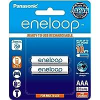 Panasonic BK-4MCCE2BT2 Eneloop Rechargeable Batteries, AAA, 2 Count