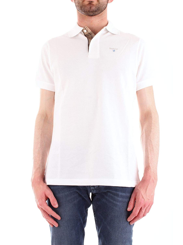 Barbour - Polo de verano para hombre - Blanco - talla de marca S ...