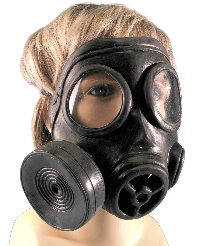 Amazon.com: Loftus Black Rubber Biohazard Costume Gas Mask, One ...