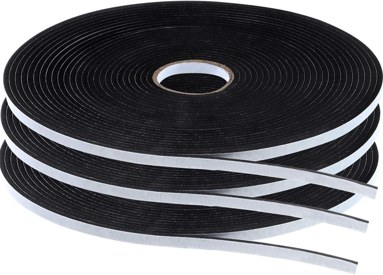 Tatuo Double Sided Foam Mounting Tape Foam Adhesive Tape Foam Seal Tape, 1/8 Inch Thick Foam Seal Strip, 3 Rolls (1/4 Inch Wide by 32.8 Feet Long Each Roll)