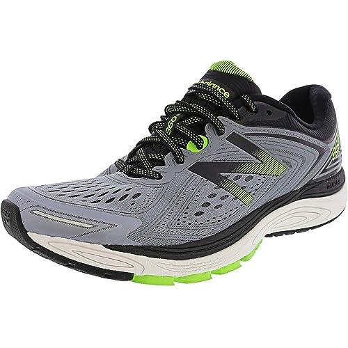 New Balance Mens 860v8 Running Shoes (B Width), GreyLime