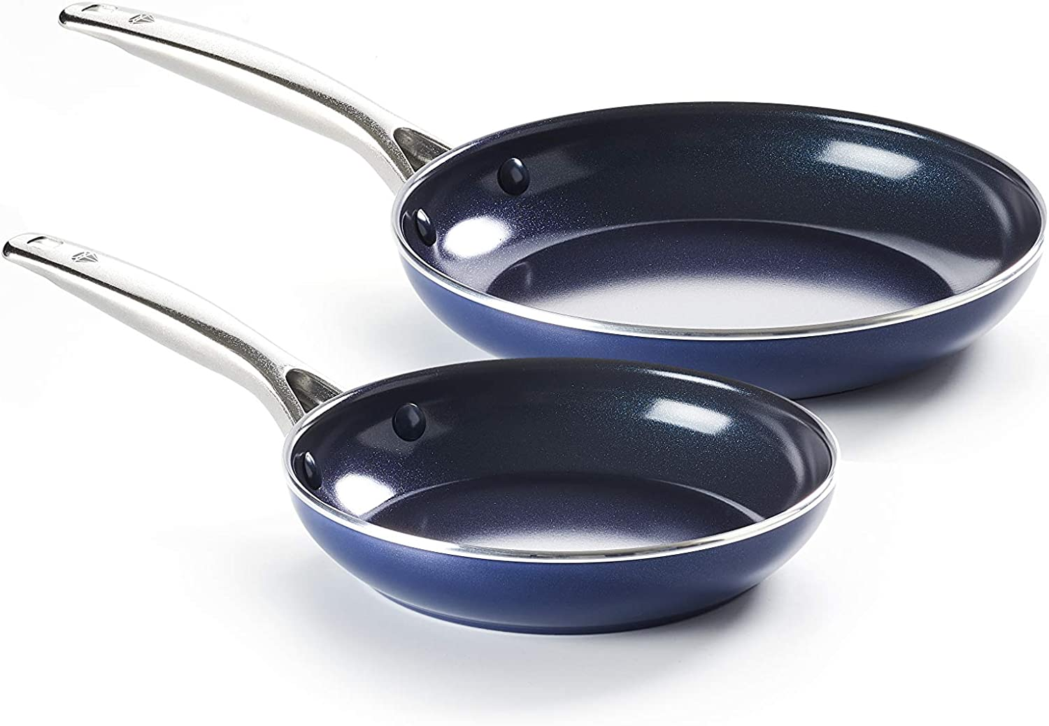Blue Diamond CC002197-001 Pan 9.5''& 11'', 2pk Frypan