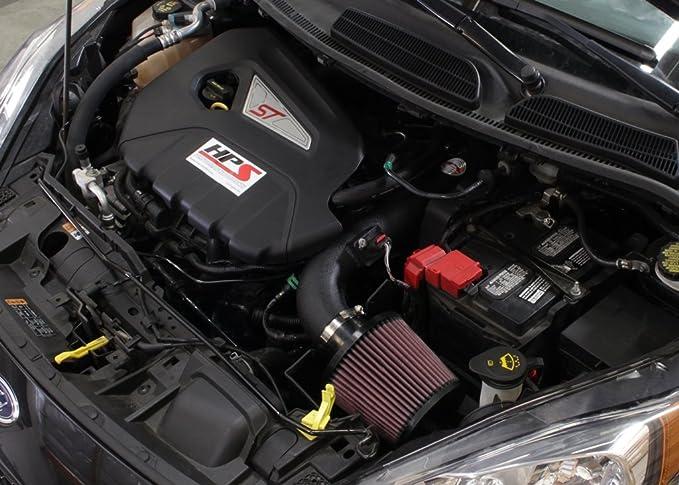Amazon.com: HPS Black Shortram Air Intake Kit + Heat Shield for 14-15 Ford Fiesta ST 1.6L Turbo: Automotive