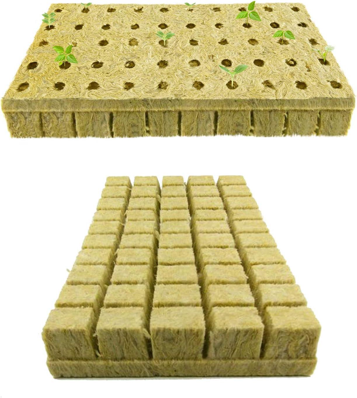 Pratico Outdoors Rockwool Grow Cubes 1-Inch Starter Plug (100 Cubes)
