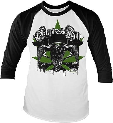 Cypress Hill Oficialmente Licenciado hoodlum Camiseta de Béisbol de Manga Larga (Blanco/Negro): Amazon.es: Ropa y accesorios